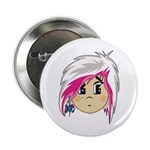 "Cute Emo Punk Girl 2.25"" Button (10 pack)"
