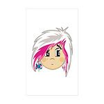 Cute Emo Punk Girl Sticker (Rectangle 10 pk)