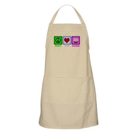 Peace Love and Cupcakes Apron