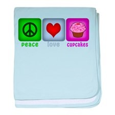 Peace Love and Cupcakes baby blanket