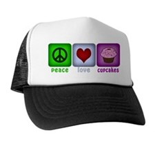 Peace Love and Cupcakes Trucker Hat