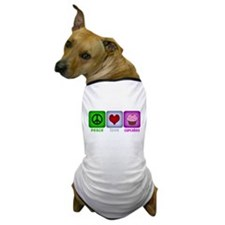 Peace Love and Cupcakes Dog T-Shirt