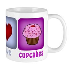Peace Love and Cupcakes Mug