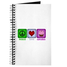 Peace Love and Cupcakes Journal
