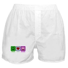 Peace Love and Cupcakes Boxer Shorts