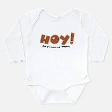 Hoy, Psst! Happens Long Sleeve Infant Bodysuit
