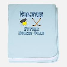 Colton - Future Hockey Star baby blanket
