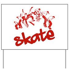Skateboarding Yard Sign