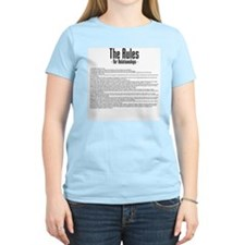 The Rules For Relationships Women's Pink T-Shirt