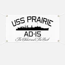USS PRAIRIE AD-15 Banner