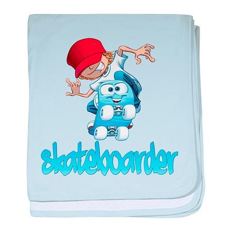 Skateboarding baby blanket