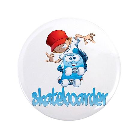 "Skateboarding 3.5"" Button"