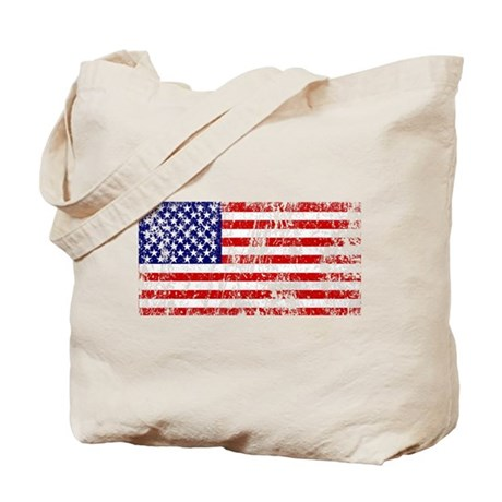 American Flag Punk Grunge Tote Bag