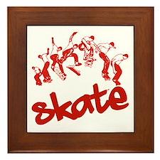 Skateboarding Framed Tile
