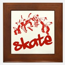 Skateboarding Framed Tile