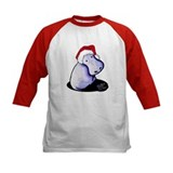 Hippopotamus christmas Baseball Jersey