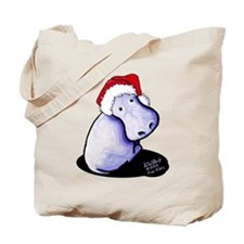 Holiday Hippo Tote Bag