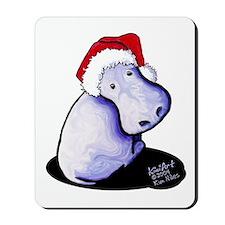 Holiday Hippo Mousepad