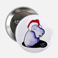 "Holiday Hippo 2.25"" Button"
