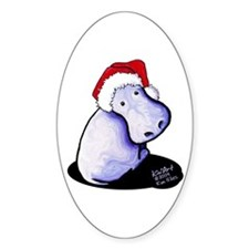 Holiday Hippo Decal
