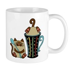 2 Siamese Cats & Coffee Mug on a Mug