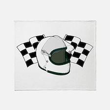 Helmet & Flags Throw Blanket