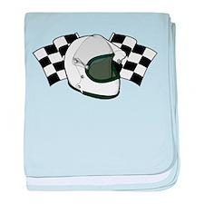 Helmet & Flags baby blanket