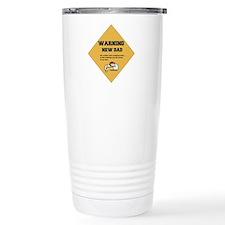 Warning New Dad Stainless Steel Travel Mug