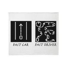 Fast Car Fast Driver Throw Blanket