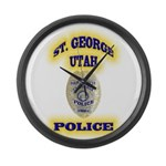 St George Police Large Wall Clock