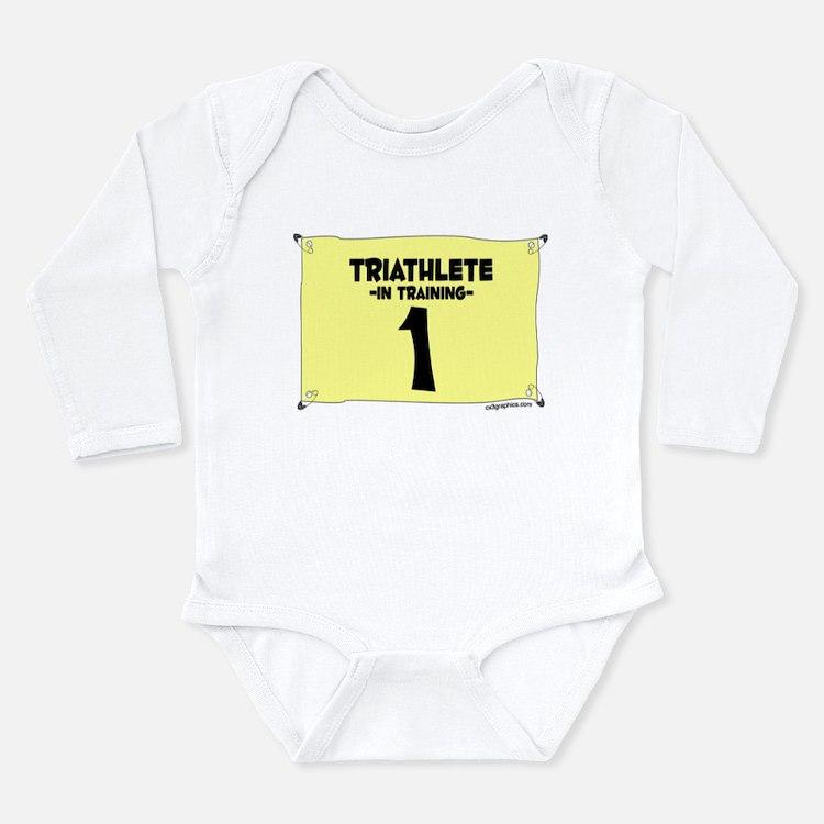 Tri Training Long Sleeve Infant Bodysuit
