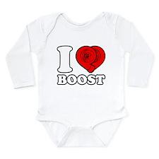 I Heart Boost Long Sleeve Infant Bodysuit