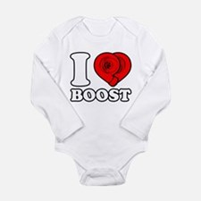 I Heart Boost Long Sleeve Infant Bodysuit