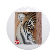 PAWS Tiger Ornament (Round)