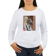PAWS Tiger Women's Long Sleeve T-Shirt