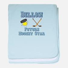 Dillon - Future Hockey Star baby blanket