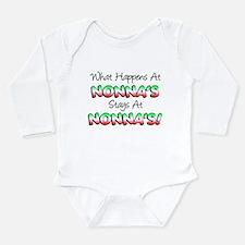 What Happens At Nonnas Long Sleeve Infant Bodysuit