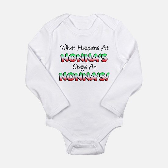 What Happens At Nonnas Long Sleeve Infant Bodysuit