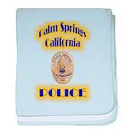 Palm Springs CA Police baby blanket