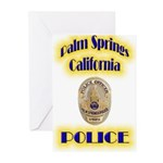 Palm Springs CA Police Greeting Cards (Pk of 10)