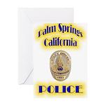 Palm Springs CA Police Greeting Card