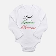 Little Italian Princess Long Sleeve Infant Bodysui