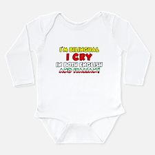 Bilingual Italian Long Sleeve Infant Bodysuit