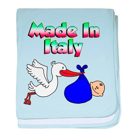 Made In Italy (Boy) baby blanket