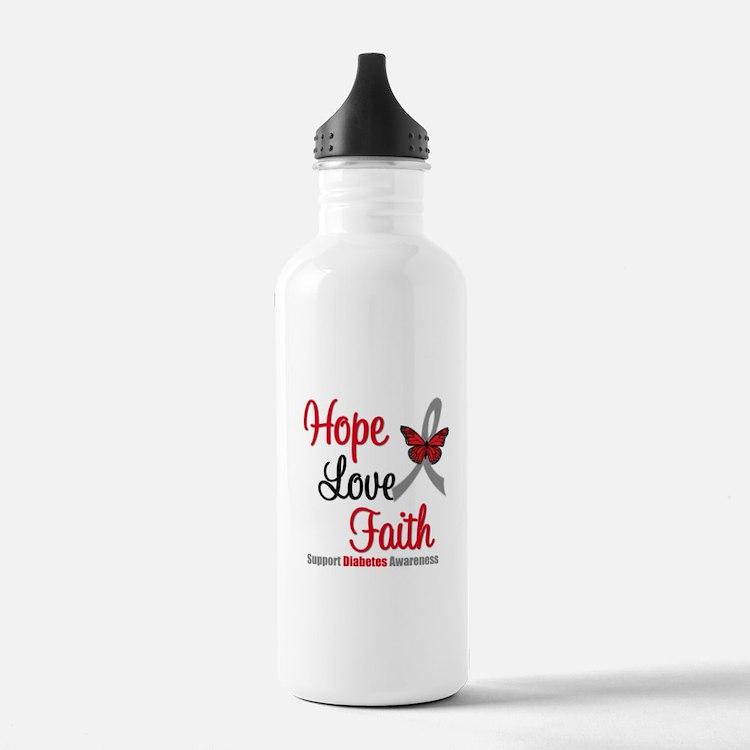 Diabetes HopeLoveFaith Water Bottle