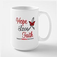 Diabetes HopeLoveFaith Mug