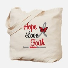 Diabetes HopeLoveFaith Tote Bag