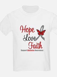 Diabetes HopeLoveFaith T-Shirt