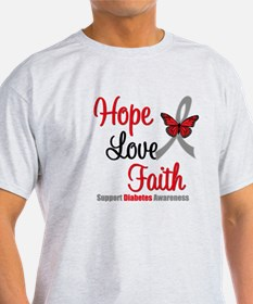 Diabetes HopeLoveFaith T-Shirt