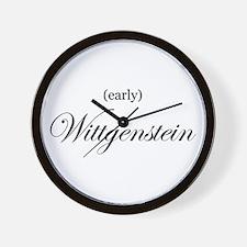 Wittgenstein (early) Wall Clock